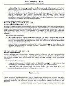 construction superintendent resume jvwithmenowcom With construction resume writers
