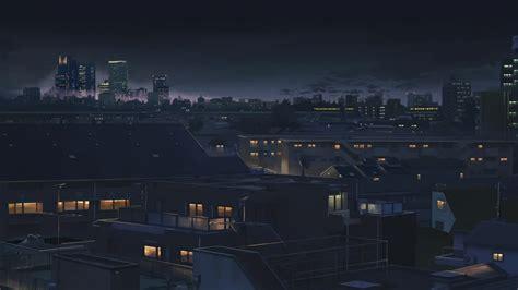 wonderful hd anime city wallpapers