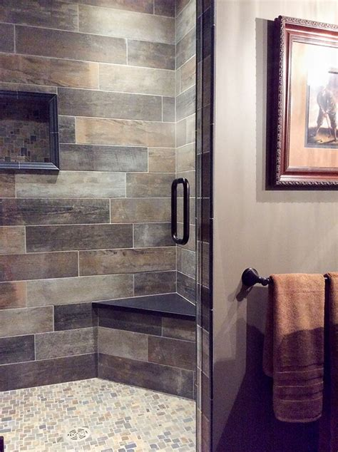 grey tile shower decorating with brown and gray a pairing that may