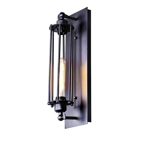 lnc 1 light black wire cage wall sconce a02251 the home