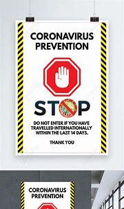 Coronavirus poster stop corona poster vector template ...