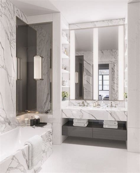 Modern Marble Bathroom Ideas by 34 Stunning Marble Bathrooms With Silver Fixtures For