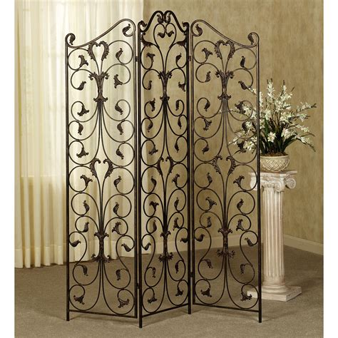 Decorating Wrought Iron Room Divider Screens For Home