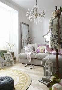 Teppich Shabby Chic : shabby chic wohnzimmer 66 romantische einrichtungen ~ Buech-reservation.com Haus und Dekorationen