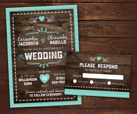Barn Wedding Invitations : 10 Country Rustic Wedding Invitations With Rsvp, Barn