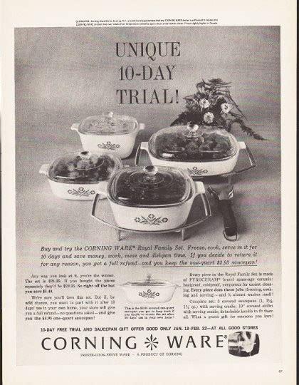 corning ware vintage ad unique  day trial