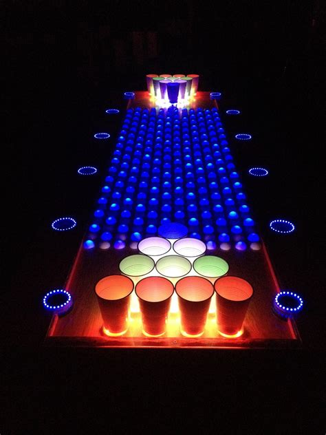 how to make a beer pong table insane interactive led beer pong table leds adafruit