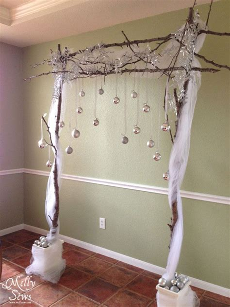 Background Winter Backdrop Ideas by Winter Wedding On A Budget Diy Backdrop Tutorial