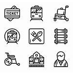 Railway Icons Vector