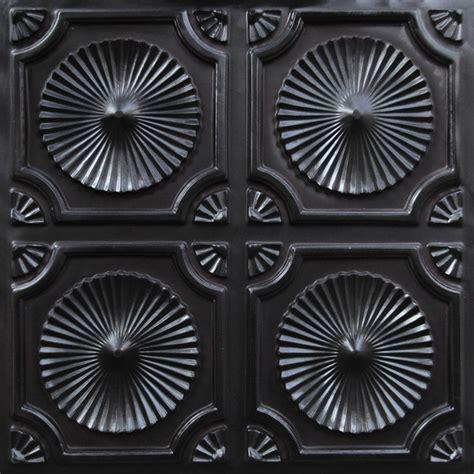 06 faux tin ceiling tile 24x24 black glue up ceiling tile by decorative ceiling tiles
