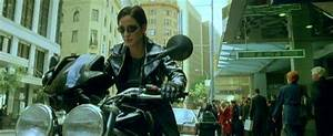 Carrie Ann Moss on the Speed Triple in The Matrix ...