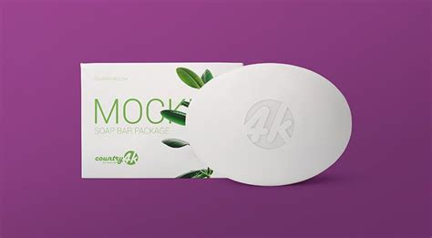 Psd mockup id 10727 in packaging mockups 2 2 0. Free Soap Bar Package Mockup (With images) | Bar soap ...
