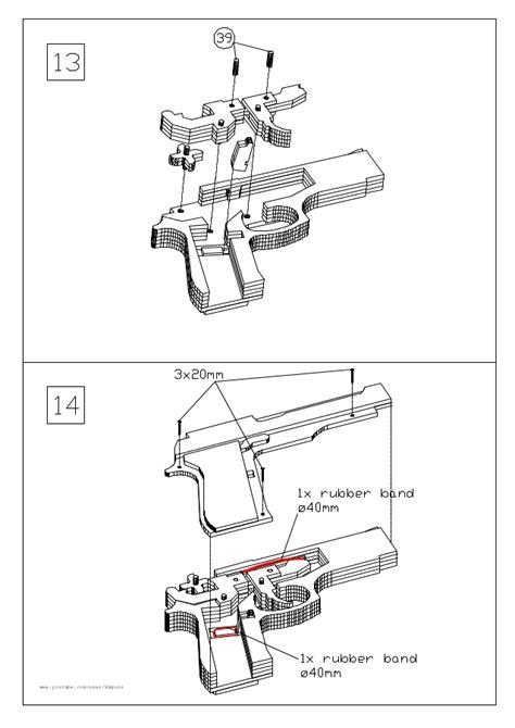 rubber band gun template blueprint rubber band gun images blueprint design and blueprint free