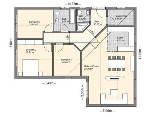 Grundrisse Für Bungalows by Bgxl5 Bungalow Grundriss 117qm 4 Zimmer House Plans