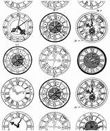 Coloring Tattoo Pages Tattoos Adults Clock Watches Anciennes Montres Difficult Ancient Adult Very Horloge Clocks Drawings Tatouage Styles Designs Coloriage sketch template