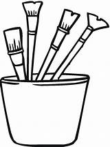 Coloring Tools Paint Pages Colouring Brush Brushes Tool Construction Sheet Clipart Printable Clip Garden Designs sketch template