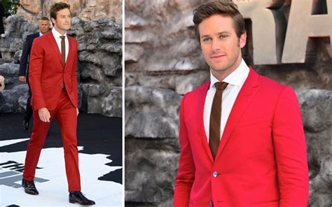 armie hammer swimsuit armie hammer wears a red gucci suit to the lone ranger