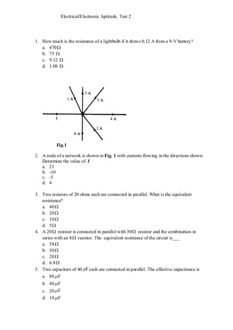 Electrical electronic aptitude test 2