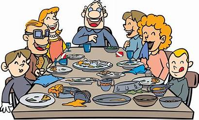 Dinner Clipart Clip Thanksgiving Table Clipartion