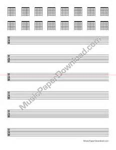 Blank Guitar Tab Chord Chart