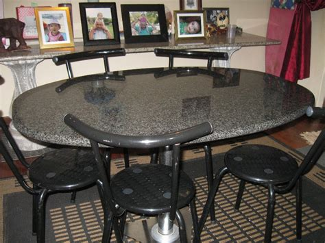 granite dining table  luxurious atmosphere  home