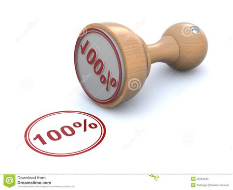Tampon En Caoutchouc  100% Illustration Stock Image