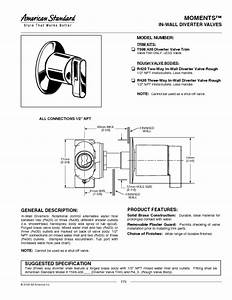 Moments In-wall Diverter Valves T506 430 Manuals