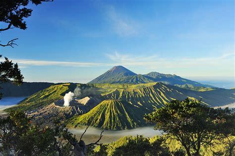 photo indonesia volcano mount bromo surabaya nature mountains