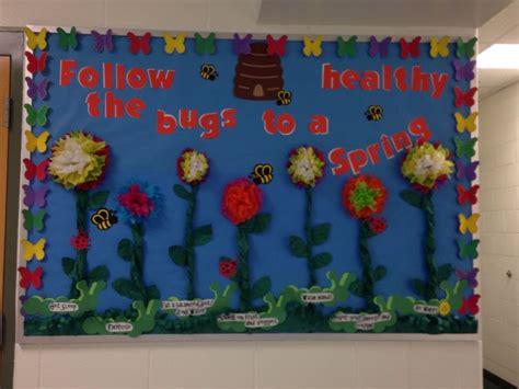 Nurse's Bulletin Spring/eoy Bulletin Board With 7 Healthy
