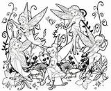 Coloring Fairies Tinker Bell sketch template