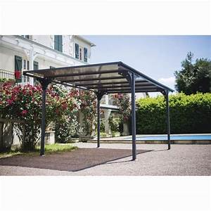 Carport Avec Abri : carport en aluminium avec toit en polycarbonate coffre abri housse protection mobilier ~ Melissatoandfro.com Idées de Décoration