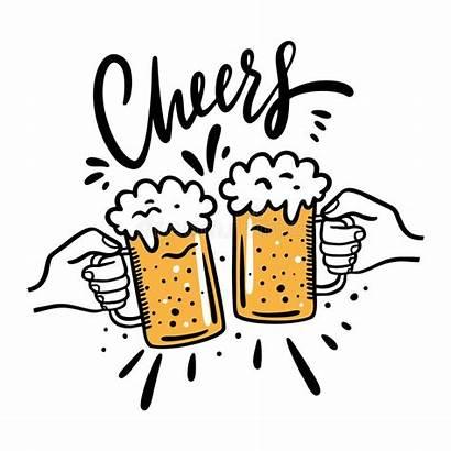 Cheers Beer Cartoon Clipart Glasses Mug Glass