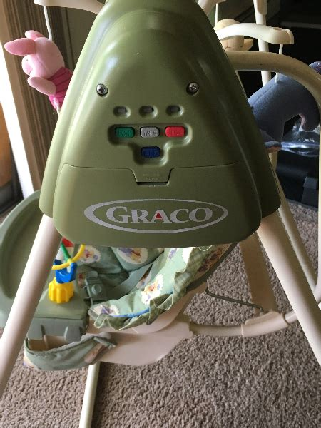 graco winnie the pooh swing used graco easy entry infant swing winnie the pooh days