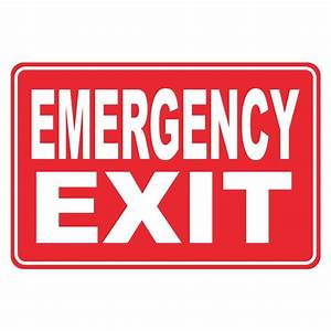 Rectangular Plastic Emergency Exit Sign-PSE-0090 - The