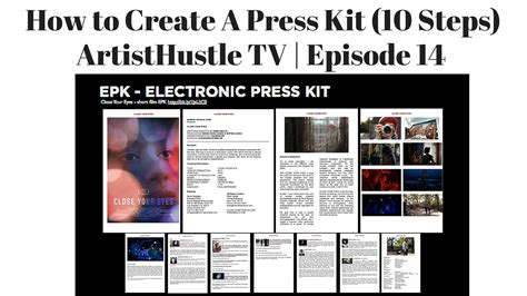 how to press a how to create a press kit for musicians artisthustle tv episode 14 youtube