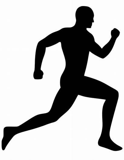 Running Icon Clip Silhouette Vector Svg Runner