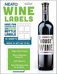 neato blank vinyl wine bottle labels and neck labels with With home brew wine labels