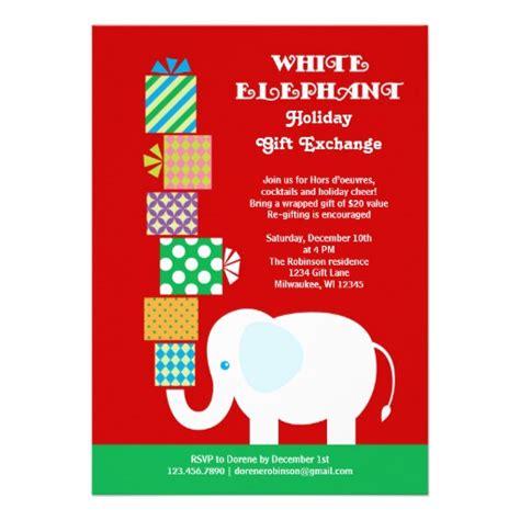 White Elephant Holiday Gift Exchange Invitation