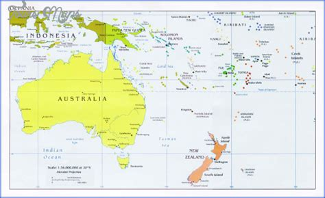 map  australia   zealand toursmapscom