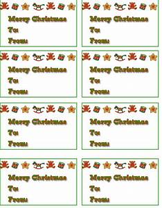 8 best images of personalized christmas tags free With free printable customizable gift tags