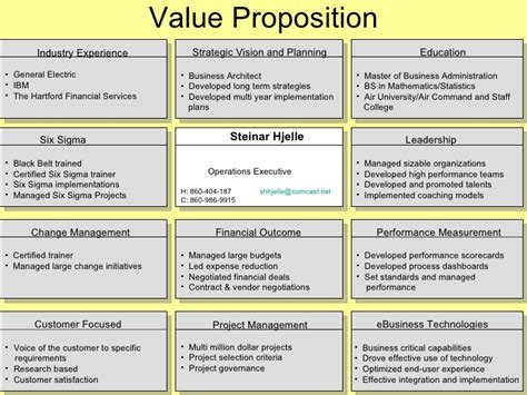 Value Proposition Resume by 1 Value Proposition Exles Per Ed Jowdy