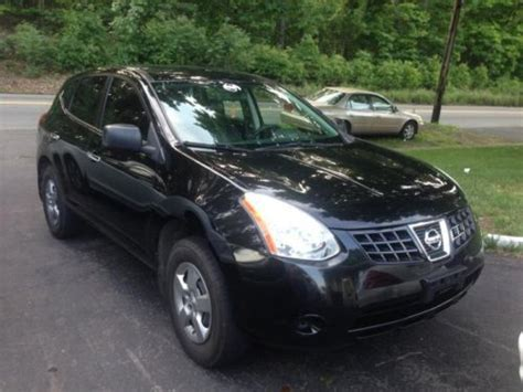 black nissan rogue buy used 2010 nissan rogue awd black on black red