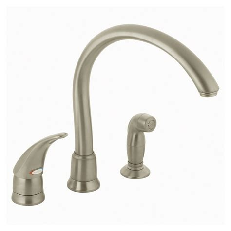 moen kitchen sinks and faucets moen monticello kitchen faucet brushed nickel 9285