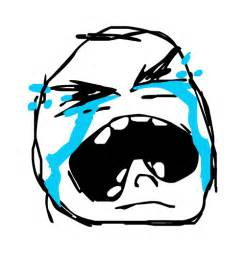 Crying Rage Face Meme