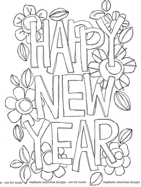 Kleurplaat Happy New Year by Happy New Year 2017 Coloring Pages Coloring Home