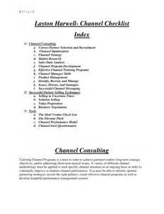 Vendor Checklist Template
