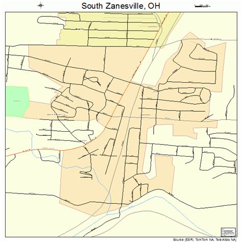 south zanesville ohio street map