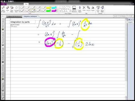 Ch71 Integration By Parts Youtube