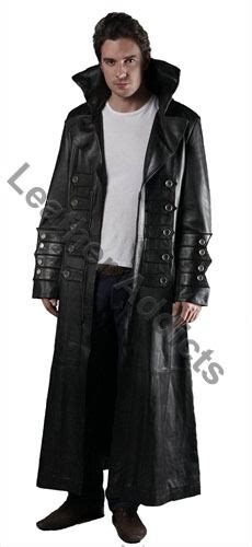 Sexy Mens Real Black Leather Gothic Steampunk Matrix