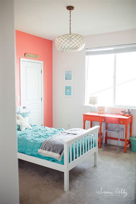 Decorating Ideas For Teal Bedroom by Bedroom Coral And Teal Room Decorating Ideas